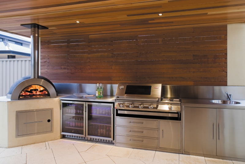 Alfresco kitchens zesti woodfired ovens perth wa for Kitchen designs perth